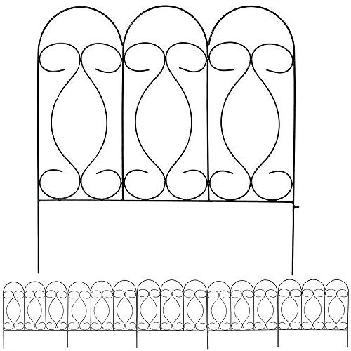 Sunnydaze Piece Border Fence 24 Inches Inches Wide Piece, 10 Overall
