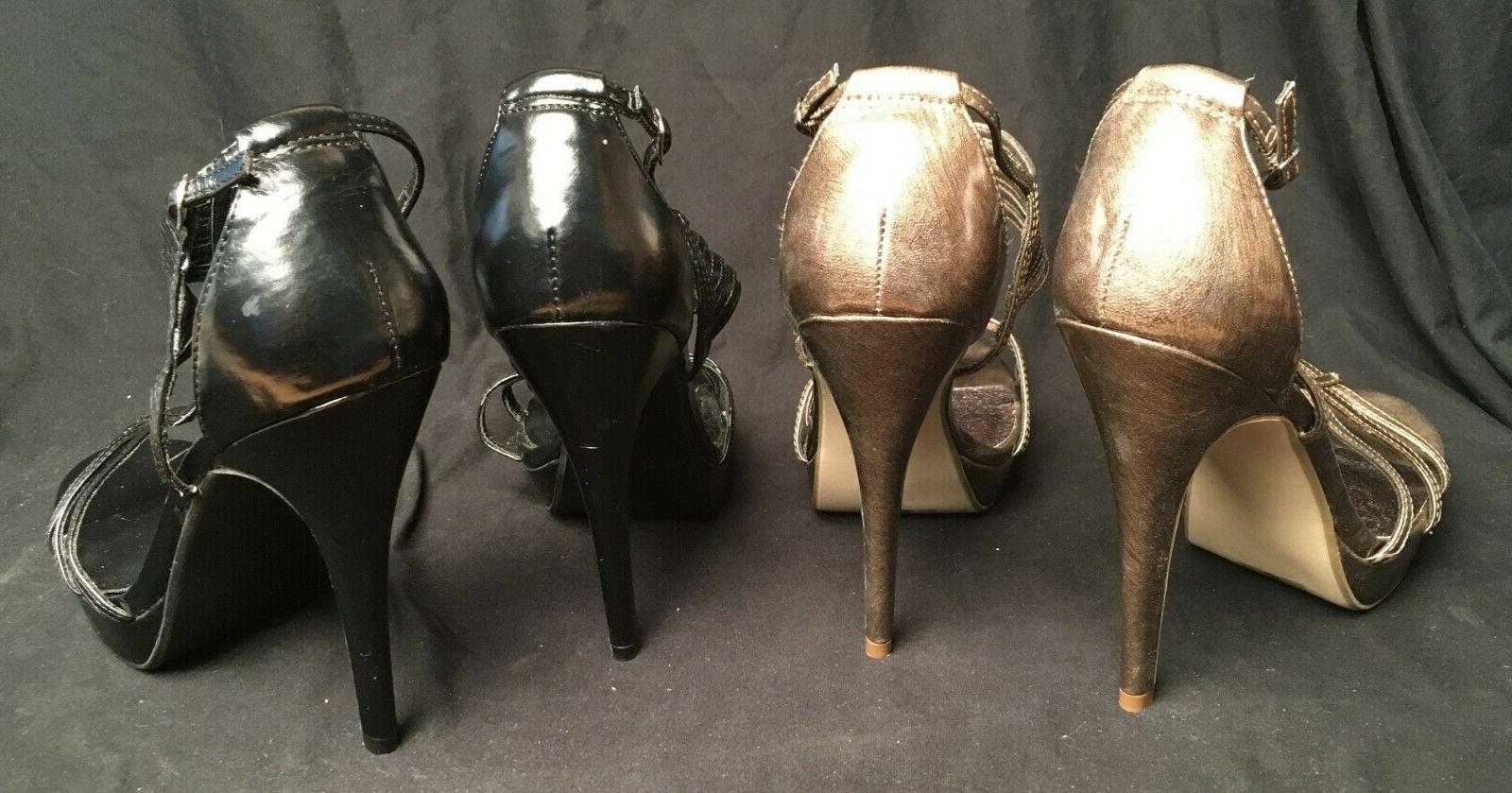 Two Delicious Black Bronze 5 Stiletto 10 NEW