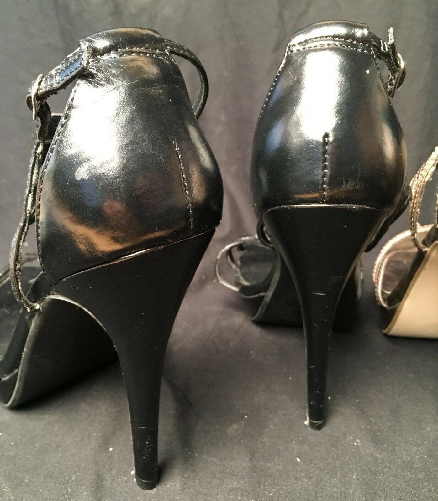 Two Pair! Black Bronze 5 Inch Stiletto 10
