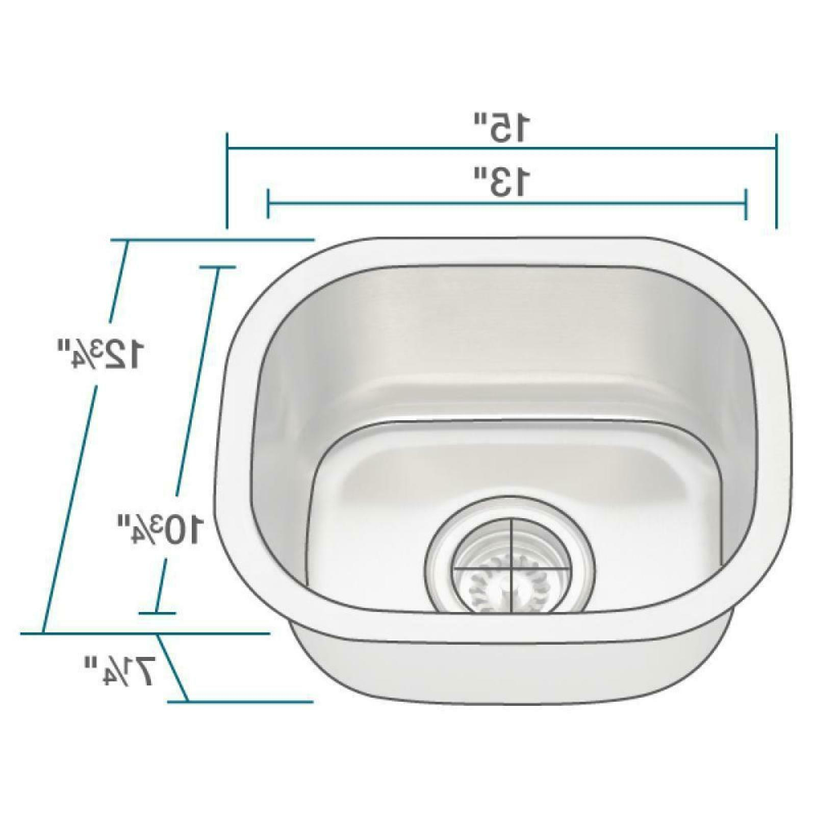 Undermount Stainless Steel inch Single Sink Heavy 18 Gauge steel