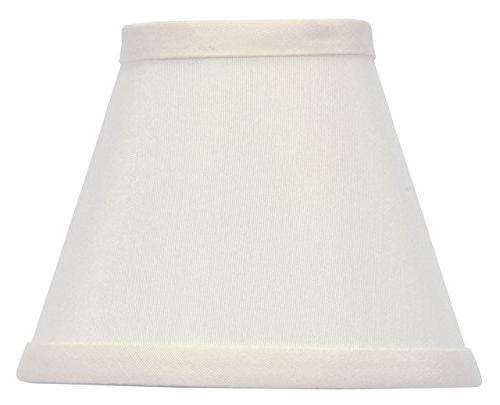 white silk chandelier lamp shade