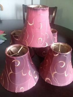 LAMPS SHADES. 5, WINE COLOR. NEWS, 5 INCH HIGH X 3X6