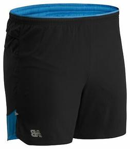 New Balance Men's Impact Run 5 Inch Short Blue with Black