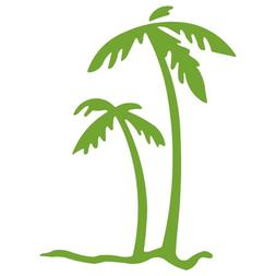 PALM TREES - Tropical Beach - Decal  I8P5