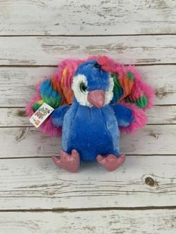 Wild Republic Peacock Rainbow Colorful Sweet Sassy Plush 10