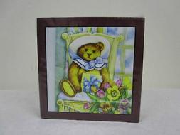 3dRose ph_34905_1 Teddy Bear on Chair-Tile Pen Holder, 5-Inc