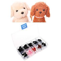 Shoresu 75 Pieces 6-12mm Plastic Safety Eyes Nose for Plush