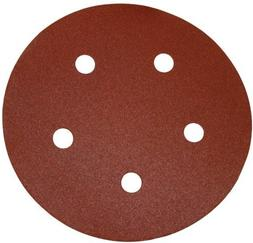 "PORTER CABLE 735501225 5"" 120-Grit Hook and Loop 5-Hole Disc"
