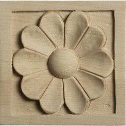 Ekena Millwork ROS03X03MEAL Small Medway Rosette, 3-Inch x 3