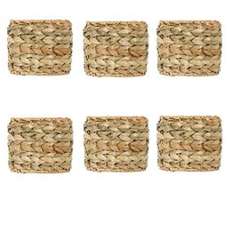 UpgradeLights Seagrass 5 Inch Clip On Drum Chandelier Lamp S