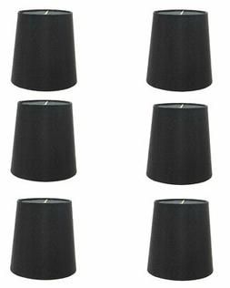 Set of 6 Silk Chandelier Lamp Shades 5 Inch Euro Style Drum
