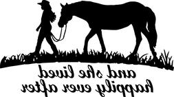 5 inch She Lived Happily Ever After Horse Decal Window Stick
