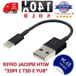"""Short 5"""" inch USB Cable Charger 8pin for iPhone 5/SE/6/7/8/X"""