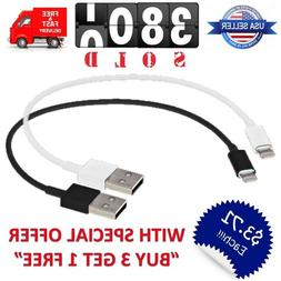 """Short 8"""" inch USB Cable Charger 8pin for iPhone 8/X/11/7/6/5"""