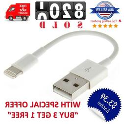 "Short 5"" inch USB Cable Charger for iPhone iPad Mini 12/11/X"