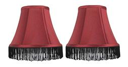 Urbanest Set of 2 Silk Bell Lamp Shades, 5-inch by 9-inch by