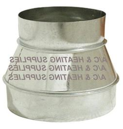 """Single Wall Galvanized Metal Duct Reducer 5"""" to 4"""" / 5"""" x 4"""""""