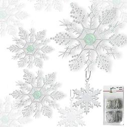BANBERRY DESIGNS Snowflake Christmas Ornaments - Set of 80 S