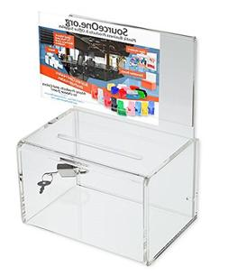 Source One Small 5-Inch Wide Deluxe Oblong Donation Box with