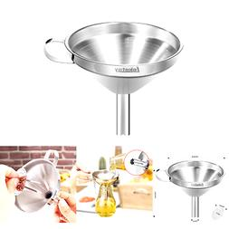 Lakatay Stainless Steel Funnel with Detachable Strainer Filt