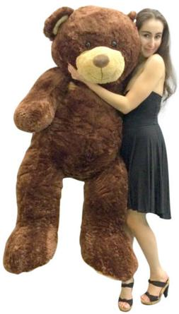 Big Plush 5 Foot Teddy Bear Soft Brown Premium Giant Stuffed