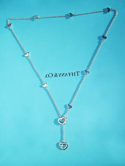 Tiffany & Co Heart Link Lariat 18.5 inch Necklace in Sterlin