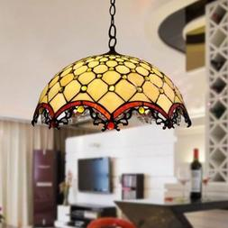 FUMAT Tiffany Stained Glass Pendant <font><b>Lamp</b></font>