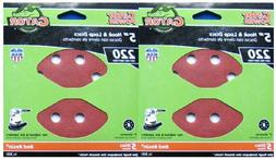 Two Packs Gator 3721  - 5 Inch - 8 Hole Sanding Discs - 220