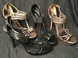 Two Pair! Delicious Black Bronze  Strappy 5 Inch Stiletto Hi