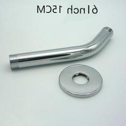 Universal Stainless Steel 6 Inch Replacement Shower Arm and