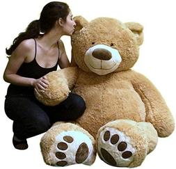 5 Foot Very Big Smiling Teddy Bear Soft with Bigfoot Paws, G