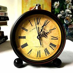 """Ieoyoubei Vintage Feel 5""""Table Clock is Battery Operated-Qui"""