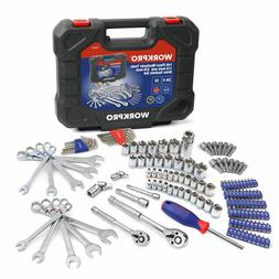 Workpro 145 Piece Mechanic's Tool Set 1/4-inch and 3/8-inch